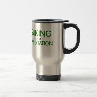 Taza De Viaje El Biking es mi meditación