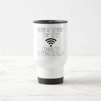 Taza De Viaje El hogar es donde WiFi conecta automáticamente