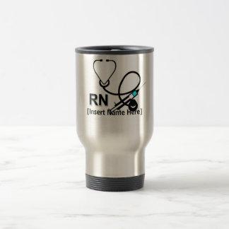Taza De Viaje Enfermera personalizada con el estetoscopio y el