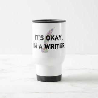 Taza De Viaje Es aceptable. Soy escritor