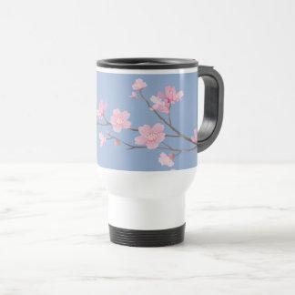 Taza De Viaje Flor de cerezo - azul de la serenidad