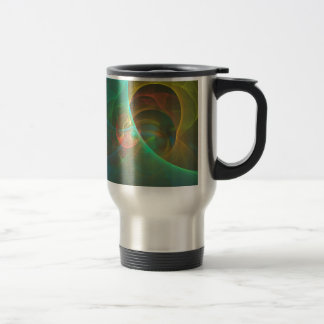 Taza De Viaje Fractal abstracto multicolor