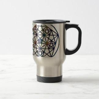 Taza De Viaje Fractal sagrado de la geometría de la abundancia