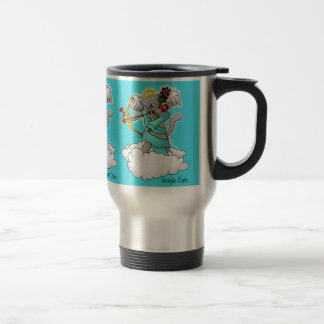 Taza De Viaje Gato gris del Cupid de Smokey del el día de San