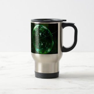 Taza De Viaje Gota de agua del vidrio verde