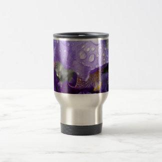 Taza De Viaje gotas de agua en el iris