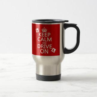 Taza De Viaje Guarde la calma y conduzca en (el principiante)