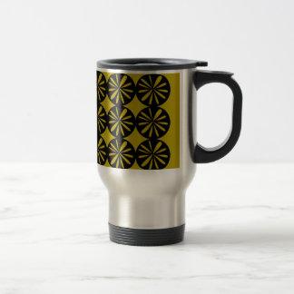 Taza De Viaje Limones del diseño en el oro
