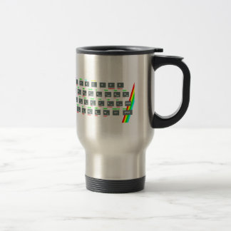 Taza De Viaje Llaves de teclado del espectro de Sinclair ZX