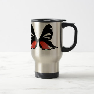 Taza De Viaje mariposa del rojo del higo 3 por los fernandes
