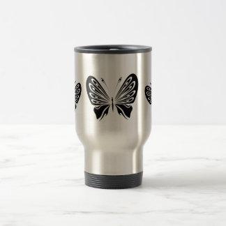 Taza De Viaje Mariposas negras delicadas