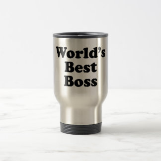 Taza De Viaje Mejor Boss del mundo