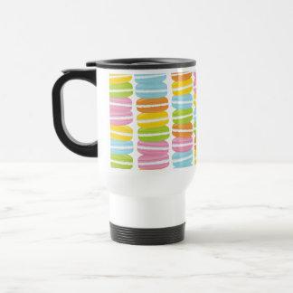 Taza De Viaje Modelo colorido de la pila de Macarons