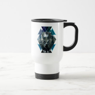 Taza De Viaje Modelo geométrico negro del carácter de la pantera