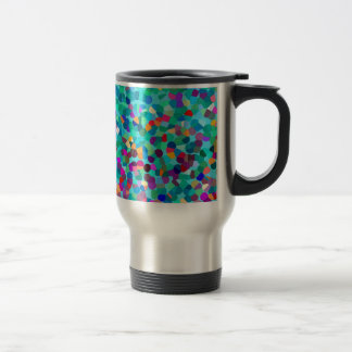 Taza De Viaje Modelo multicolor azul colorido del arte abstracto