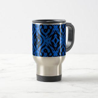 Taza De Viaje Modelo tribal azul de las formas