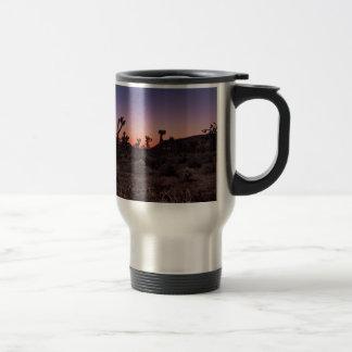 Taza De Viaje Parque nacional de la yuca de la puesta del sol