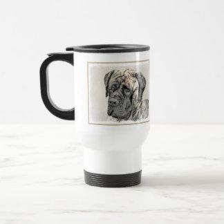 Taza De Viaje Pintura (Brindle) inglesa del mastín - perro