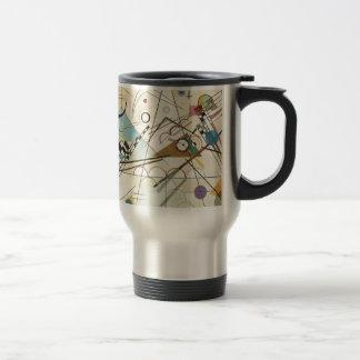 Taza De Viaje Pintura de Kandinsky de la composición 8