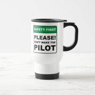 Taza De Viaje Por favor, no despierte al piloto