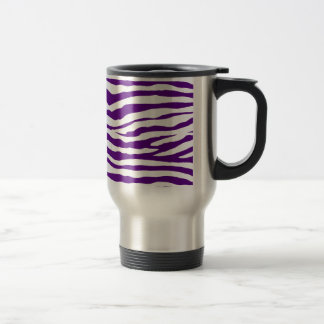 Taza De Viaje Rayas púrpuras de la cebra