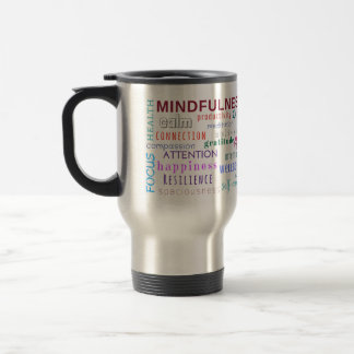 Taza De Viaje Revoltijo de la palabra del Mindfulness