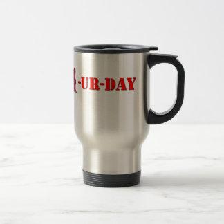 Taza De Viaje Sábado es Caturday