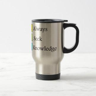 Taza De Viaje siempre un conocimiento de la búsqueda k de s