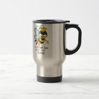 Taza De Viaje Soy abeja reina alrededor aquí de miel