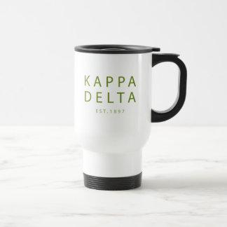 Taza De Viaje Tipo moderno del delta de Kappa