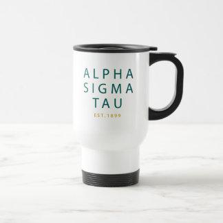 Taza De Viaje Tipo moderno del Tau de la sigma alfa