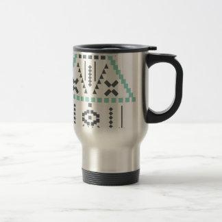 Taza De Viaje Tótem de Boho, símbolo étnico, Hippie, Azteca,