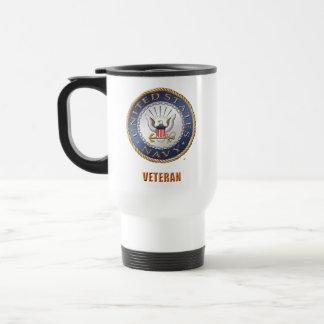 Taza De Viaje U.S. Viaje del veterano de la marina de
