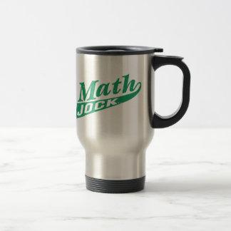 Taza De Viaje Verde del atleta de la matemáticas