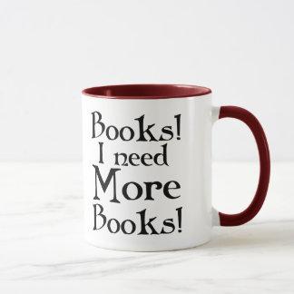 Taza del adicto al libro divertido