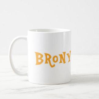 Taza del amante de Brony - naranja