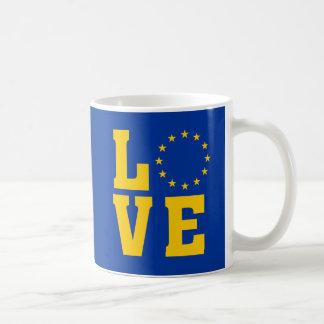 Taza del AMOR de la unión europea