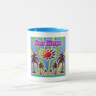 Taza del amor del verano de San Diego
