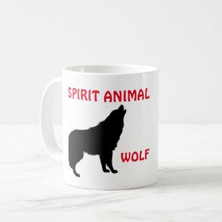 Taza del animal del alcohol del lobo