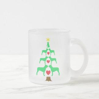 Taza del árbol de navidad de Boston Terrier