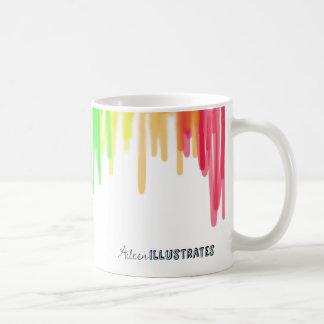 taza del arco iris del goteo