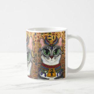 Taza del arte del gato egipcio de Bastet de la