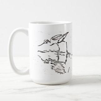 Taza del arte del pájaro del Avocet