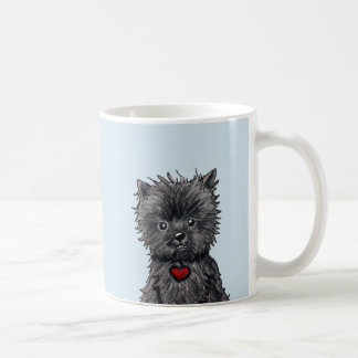 Taza del arte del perro del Affenpinscher