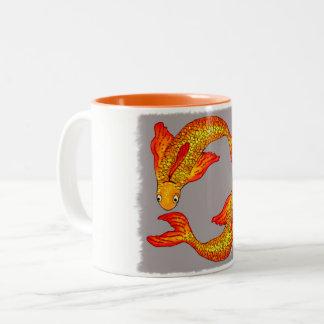 Taza del arte del zodiaco de los pescados de