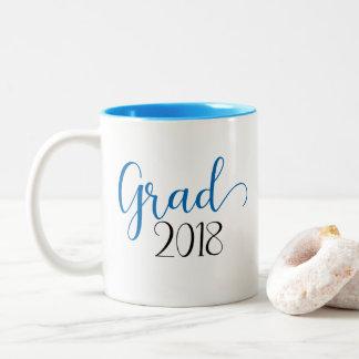 Taza del azul de la graduación 2018