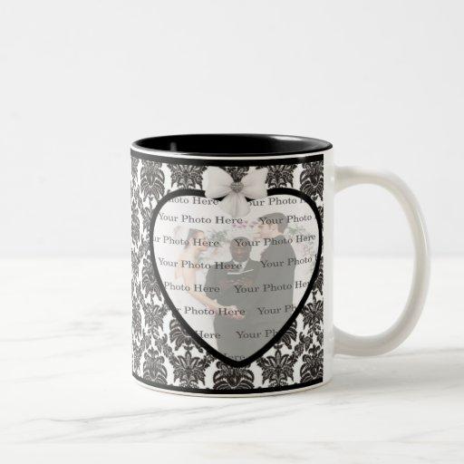 Taza del boda de la elegancia del damasco