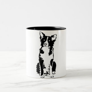 Taza del border collie 11oz
