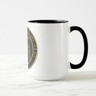Taza del café de la mayoría del alto