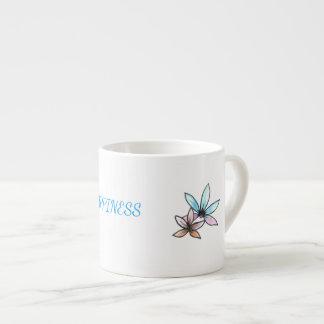 Taza del café express con diseño inspirador